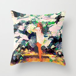 My Wish Is To Stay Always Like This, Living Quietly In a Corner Of Nature #painting Throw Pillow