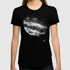 Jupiter & 3 Minions Black Womens Fitted Tee SMALL