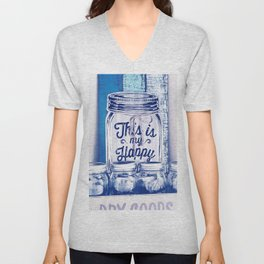 This Is My Happy Place Vintage Sign Unisex V-Neck