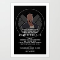 agents of shield Art Prints featuring Agents of S.H.I.E.L.D. - Mac by MacGuffin Designs