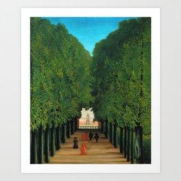 Henri Rousseau - Avenue in the Park at Saint Cloud Art Print
