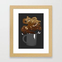Galaxy Coffee Framed Art Print