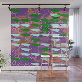 Aqua Green Fish Wall Mural