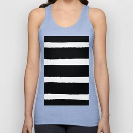 Black & White Paint Stripes by Friztin Unisex Tank Top