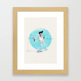 Elvis the Pelvis Framed Art Print