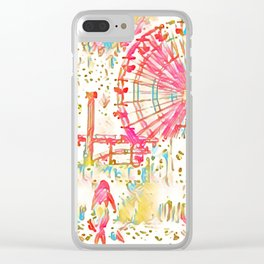 Santa Monica Pier - Art Clear iPhone Case
