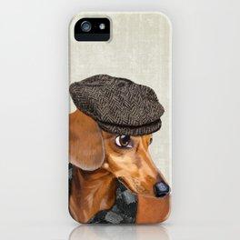 Elegant Mr. Dachshund iPhone Case