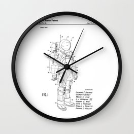 NASA Space Suit Patent Wall Clock