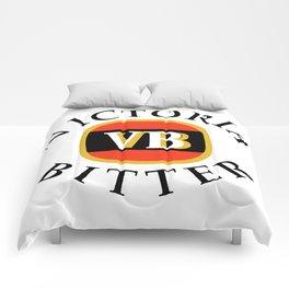 victoria bitter black Comforters