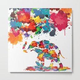 Paint elephant Metal Print