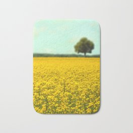 Yellow Fields Bath Mat