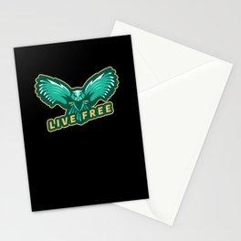 Live Free Eagle Stationery Cards