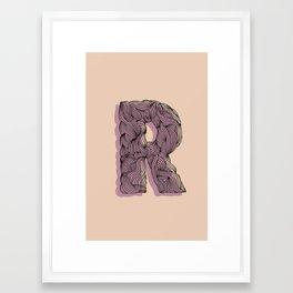 """""""R"""" Doodle Framed Art Print"""