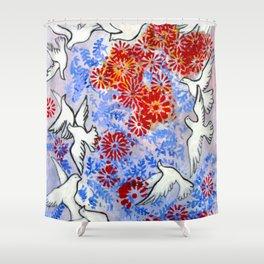 Floral Doves  #society6 #decor #buyart Shower Curtain