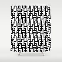 mid century Shower Curtains featuring Mid Century Pattern by Scott Aichner