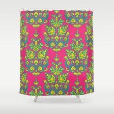 Kala damask ikat Shower Curtain