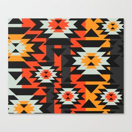 Aztec geometry Canvas Print
