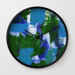 Abstract Expression #4 by Michael Moffa Wall Clock