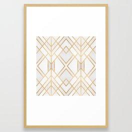 Golden Geo 2 Framed Art Print