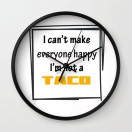 I'm not a Taco. Wall Clock