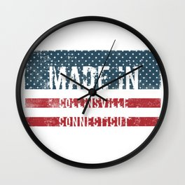 Made in Collinsville, Connecticut Wall Clock