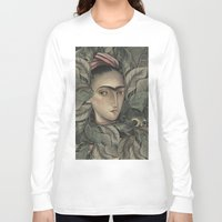 frida kahlo Long Sleeve T-shirts featuring Frida Kahlo by Antonio Lorente