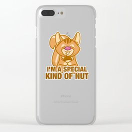 Funny Saying Squirrel Illustration Art design Gift Kawaii Clear iPhone Case