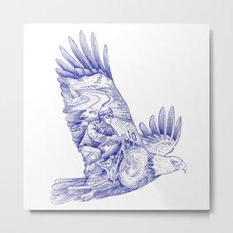 Eagle Rider Metal Print