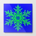 Snowflake in Blue Field, Gift by pat71896