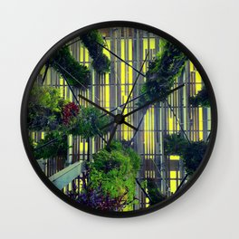 Miami urban trees Wall Clock
