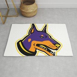 Doberman Pinscher Dog Mascot Rug