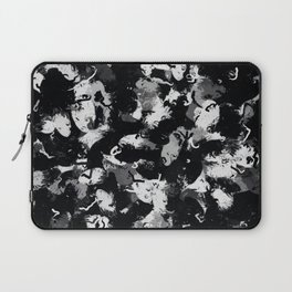 Shades of Gray and Black Oils #1979 Laptop Sleeve