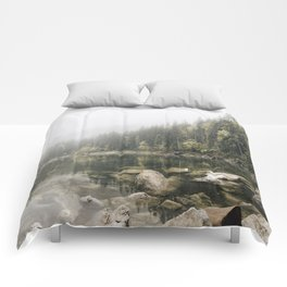 Pale lake - landscape photography Comforters