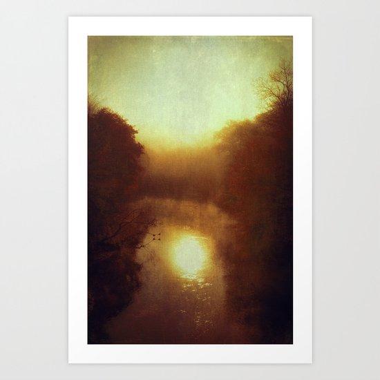 dreamy fall morning Art Print