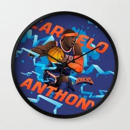 NBA Stars: Carmelo Anthony Wall Clock