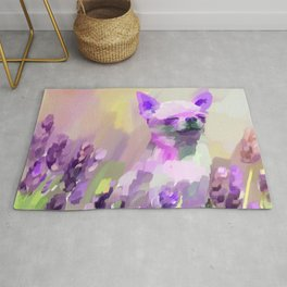 Chihuahua in Lavender Rug