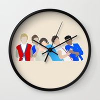 one direction Wall Clocks featuring One Direction by Natasha Ramon