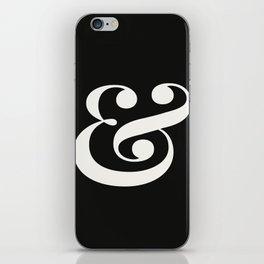 Ampersand - Delicate in Black - Typography Lovers Art Print iPhone Skin