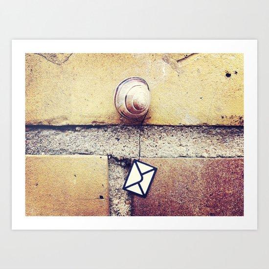 Snail Mail Art Print