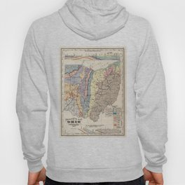 Vintage Geological Map of Ohio (1872) Hoody