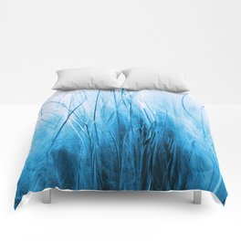 Feather Grass Blue Comforters