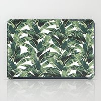 banana leaf iPad Cases featuring BANANA LEAF by bows & arrows