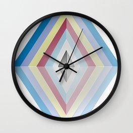 Muted tones geometric Wall Clock