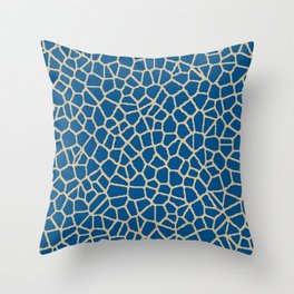 staklo (dark blue with coffee) Throw Pillow