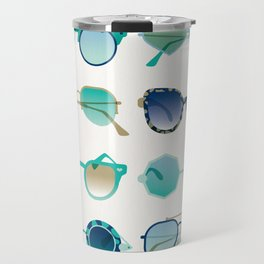 Sunglasses Collection – Turquoise & Navy Palette Travel Mug