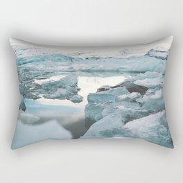 Iceland Glacier Lagoon   Jökulsárlón Rectangular Pillow