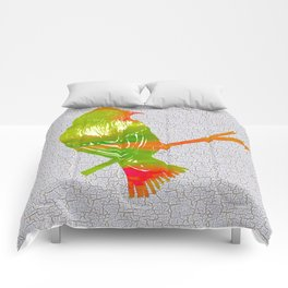 Colorful Art Goldfinch Illustration Comforters
