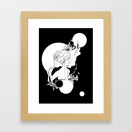 Lefey by carographic, Carolyn Mielke Framed Art Print