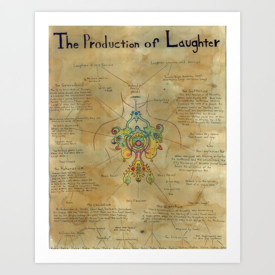 The Production of Laughter Art Print