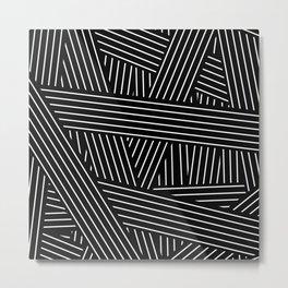 Tangled Lines Metal Print